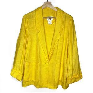Vintage MJ Seattle Flax Yellow Blazer Size medium